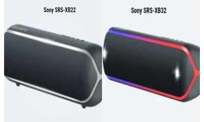 So sánh loa di động Sony SRS-XB32 và SRS-XB22