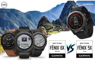 So sánh sản phẩm Garmin Fenix 5x Plus và Garmin Fenix 6x