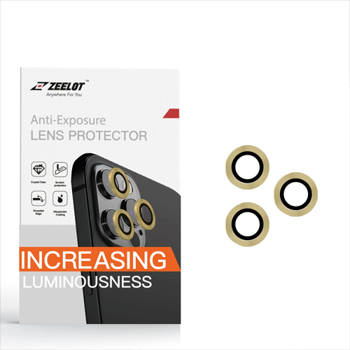 iPhone 12 / 12 Pro Zeelot Anti-Exposure Lens Protector Titanium Alloy